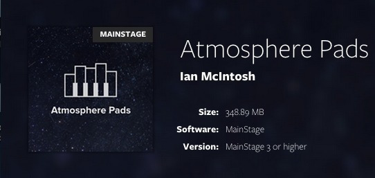 Mainstage Atmosphere Pads Completo - Ian Macintosh