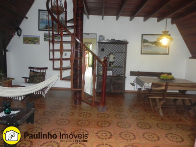 Casa A 200 M Da Praia, Perto Do Centro Da Cidade De Peruíbe, Estilo Chalé Toda Em Alvenaria. - Ca02482 - 4313742