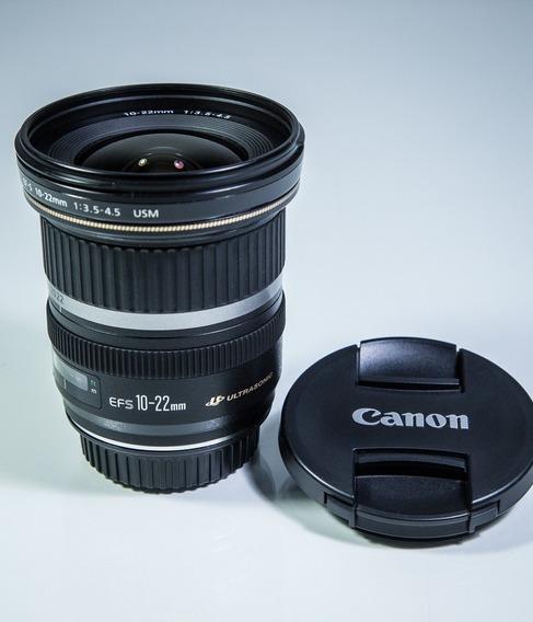 Objetiva Canon Ef-s 10-22mm F 3.5-4.5 Usm