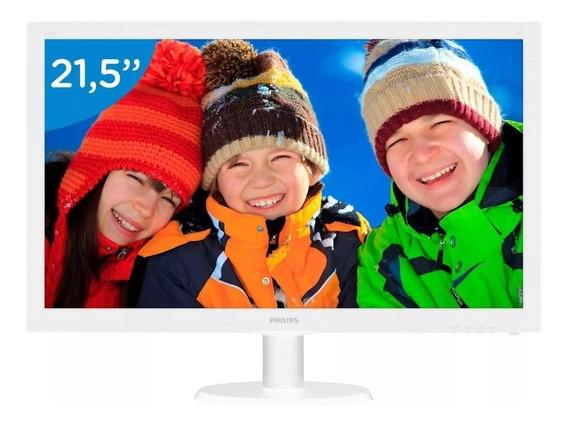 Monitor 21,5 Led Philips Branco Hdmi,vga,fhd - 223v5lhsw