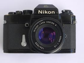 Camera Fotografica Filme 35mm Nikon El2 + 50mm F1.8 Fm Fe