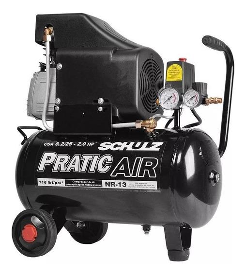 Compressor De Ar - Csa 8,2 25l - Pratic Air - Schulz 220v