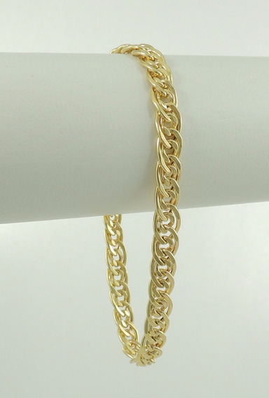 Pulseira Masculina Grumet Super Promoção 8,0g 20cm Ouro 18k