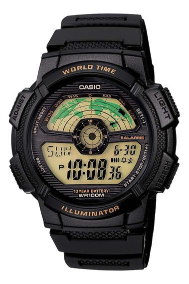 Relógio Casio Ae-1100w-1bvdf Cronógrafo - Refinado
