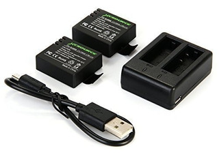 Xcsource Cargador Dual Y Baterías 1100mah Sj4000 Sj5000