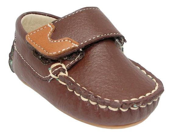 Zapatos Mocasines Bebé Niño Mini Burbujas #11-13 Piel New R