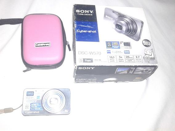 Câmera Sony Prata 16,1 Mega Pixels