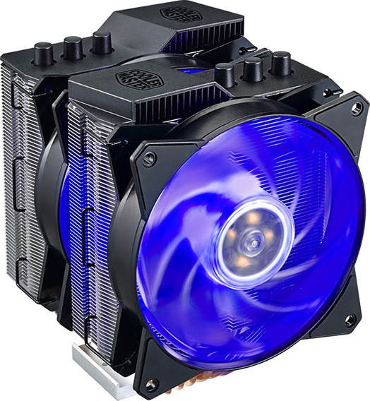 Cooler Master Air Ma620p Led Rgb C/ 6 Heatpipes De Cobre - 02 Coolers - Dual Fan - Duplo Dissipador - P/ Intel E Amd