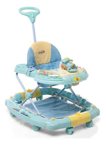 Andador Bebé Mecedor C/ Manija 3 Alturas Plegable Antivuelco