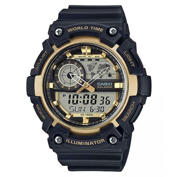 Relógio Casio Masculino Anadigi Preto Aeq200w9avdf