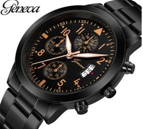 Relógios Masculinos Analógico Social Quartz Black Top Luxo