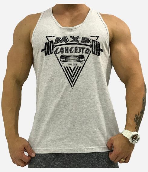 Regata Academia Cavada Masculina Musculação Treino Tank Mxd