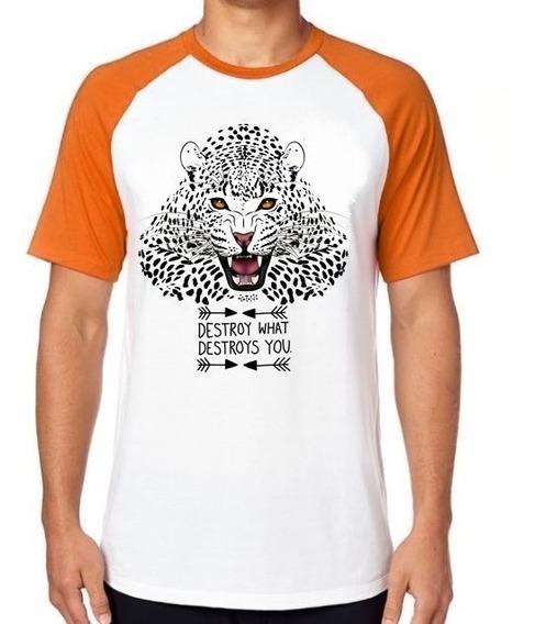 Camiseta Luxo Onça Pintada Tigre Leão Amazonia Extinção