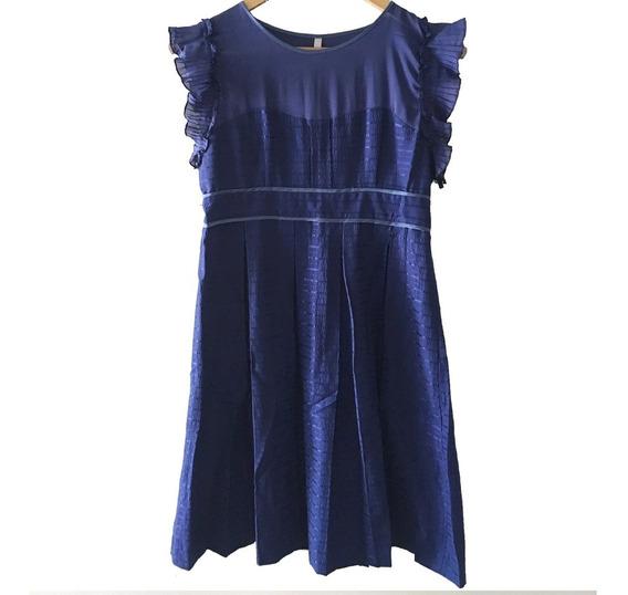 Vestido Corto Azul Vitamina Sin Mangas - Impecable!!