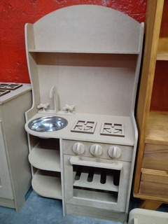 Cocina Cocinita Con Mesada De Fibro Facil Montessori