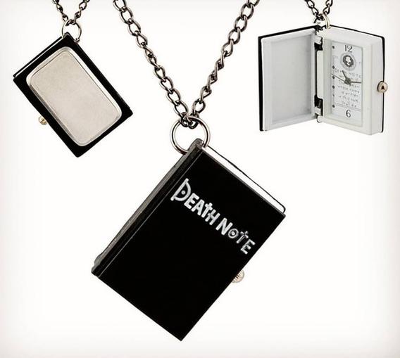 Collar Death Note Libreta Reloj Anime Juvenil Geek Amor