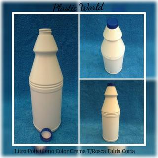 Envase Plástico De Litro Polietileno 1000cc Ml Tapa Rosca