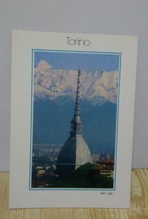 Cartão Postal Da Cidade De Turim-3unid