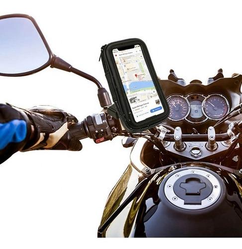 Suporte Capa Celular Gps 6.3   Moto Bike 360º Prova D' Água