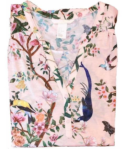 Camisola H & M Exquisito Estampado.