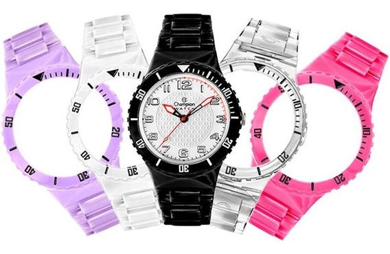 Relógio Champion Menor Cp30182x Original Kit Promoção Nf