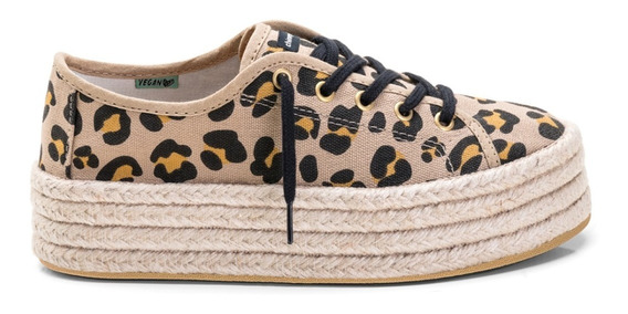 Sneaker Plataforma Leopardo