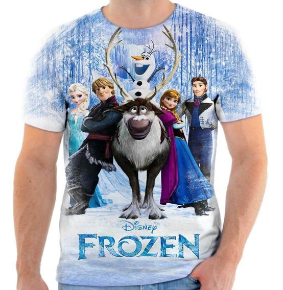 Camiseta Frozen Camisa Adulto Infantil Personalizada 4