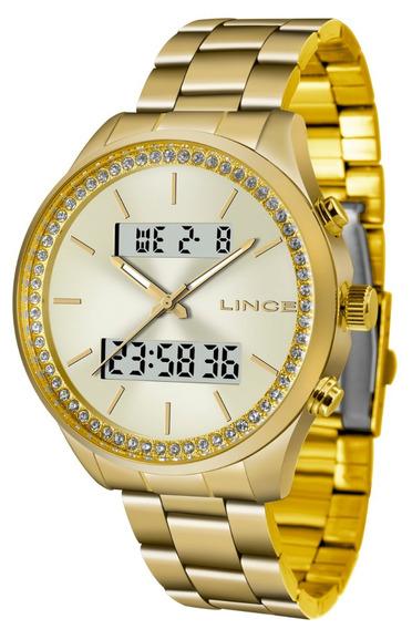 Relogio Lince Feminino Anadigi Lag4591l C1kx Dourado