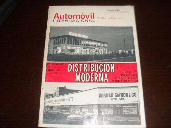 Revista Antiga Janeiro 1965 Automovil Internacional