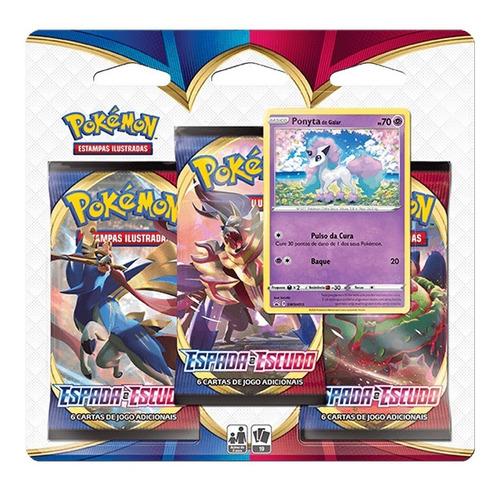 Card Game Pokémon Tcg Espada Escudo Blister Triplo Ponyta