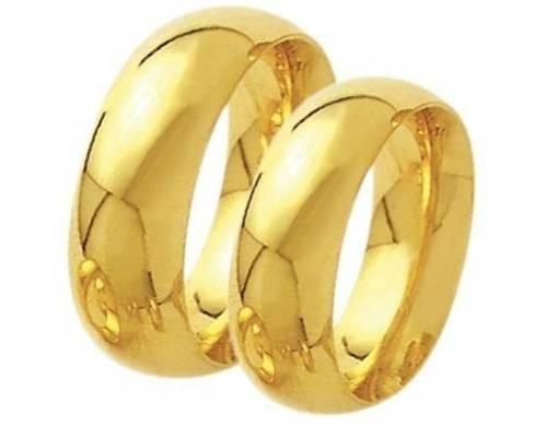 Alianças Casamento Ouro Polidas 6mm 10g