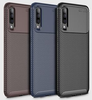 Capa Case Anti Impacto Galaxy A50 Carbon Fiber