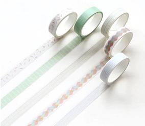 Kit 5 Washi Tape - Estampas Coloridas