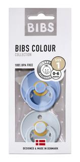 Chupetes Bibs X2 Varios Colores Caucho Bpa Free 3 Tamaños