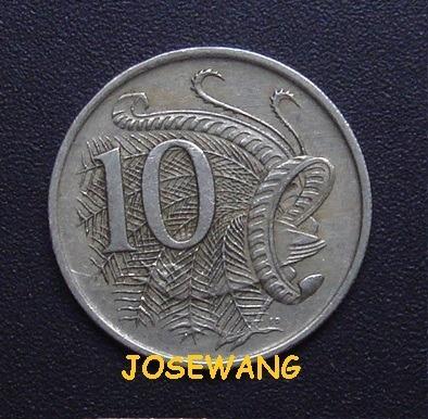 10 Cents.moneda Australia Del Anio 1966