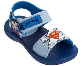 Sandália Chinelo Batman E Super Man 22006 Liga Da Justiça
