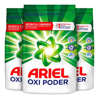 Pack X 3 Ariel Regular Detergente Blanco Y Color 2kg
