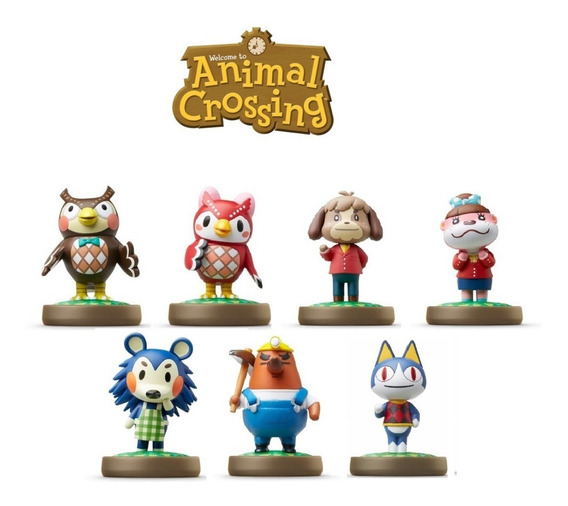Kit 7 Amiibos Animal Crossing - Switch / 3ds / Wii U