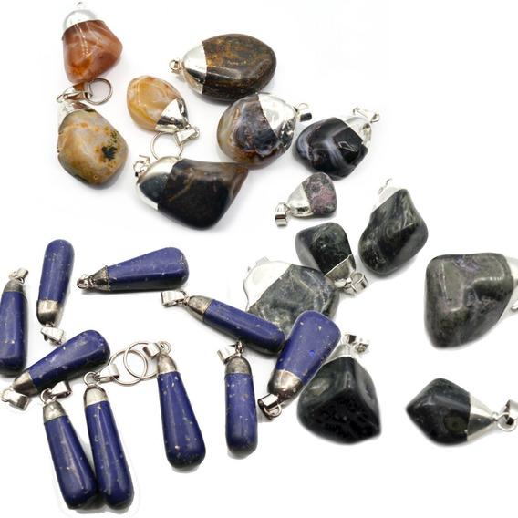 Dijes De Piedras Semipreciosas X 30 Unid. Collar, Pulsera
