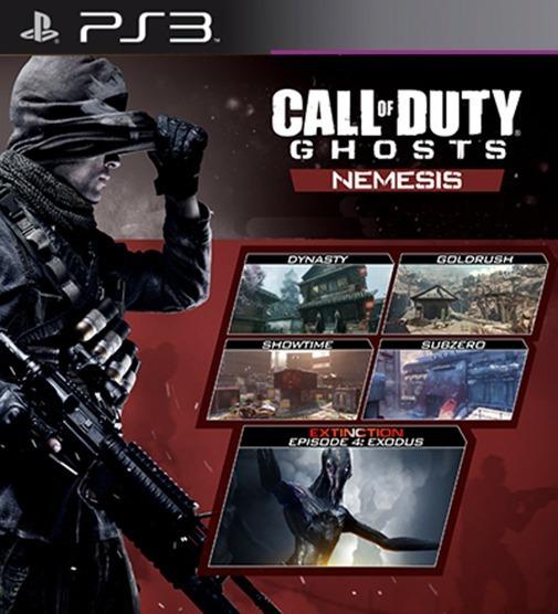 Nemesis Dlc Expansão Pack Mapas Call Of Duty Cod Ghosts Ps3