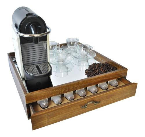 Bandeja Caixa Para Maquina E Capsulas Nespresso