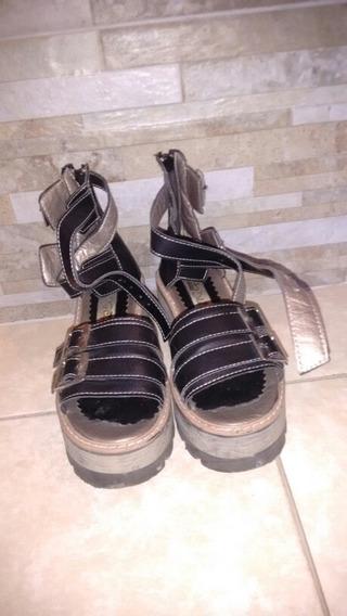 Sandalias De Nena Con Plataforma Alta