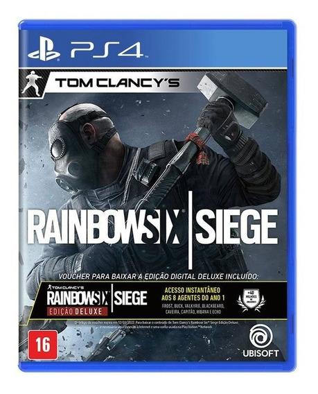 Rainbow Six Siege Deluxe Edition - Mídia Física - Novo - Ps4
