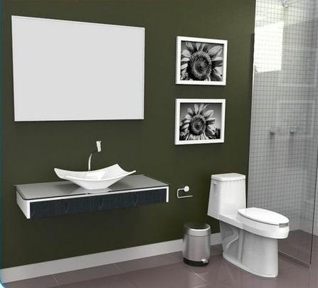 Bancada / Gabinete / Lavabo Banheiro Madri 100