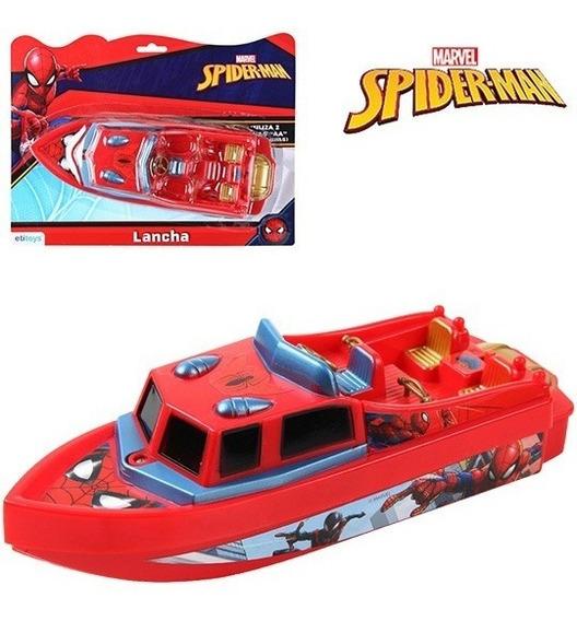 Barco Lancha Homem Aranha A Pilha Brinquedo Para Piscina