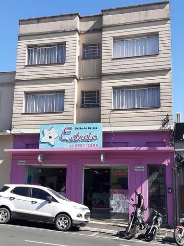 Imagem 1 de 11 de Kitnet Com 1 Dormitório Para Alugar, 25 M² Por R$ 850,00/mês - Centro - Ponta Grossa/pr - Kn0022
