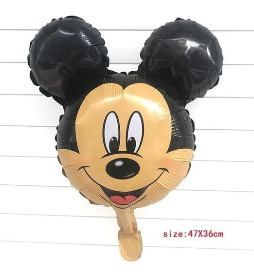 Globo Cabeza De Mickey Minnie Mouse 35x30cm