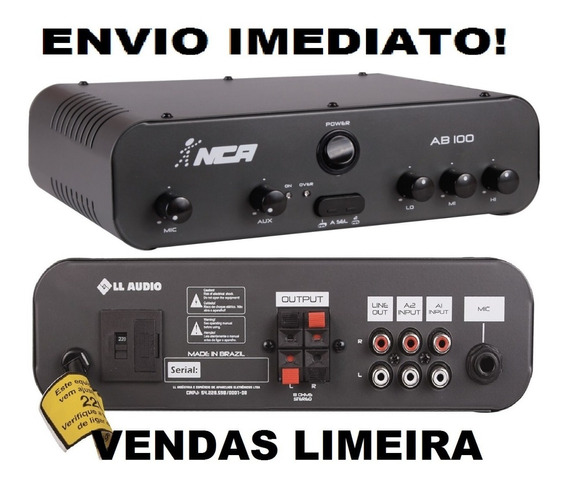 Amplificador Ab100 Ambiente Envio Hoje Ab100 R4 Ab100r4