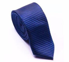 Gravata Azul Royal Trabalhada - Canelada