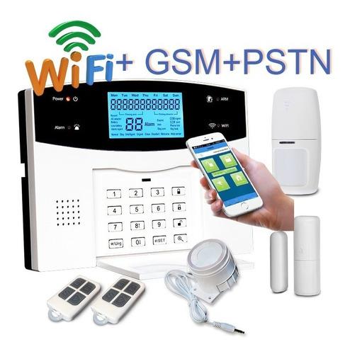 Imagen 1 de 7 de Alarma D Casa Wifi Gsm Telef Seguridad Para Oficina Negocio
